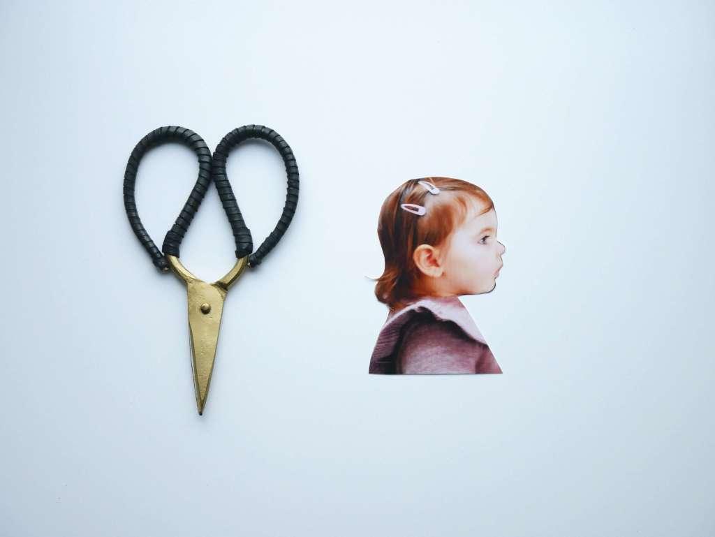 DIY silhouette portrait enfant