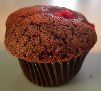 Muffin chocolat framboises