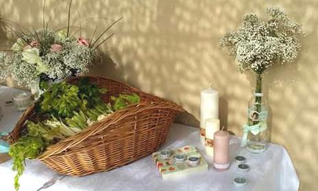 bougies et felurs bohème vintage