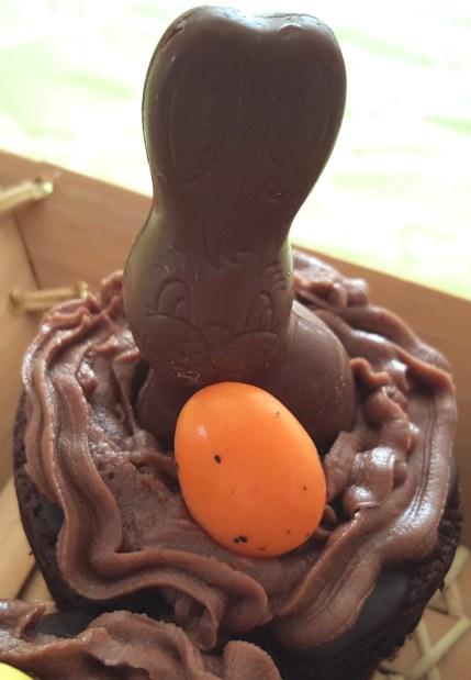 cupcake pâques chocolat lapin