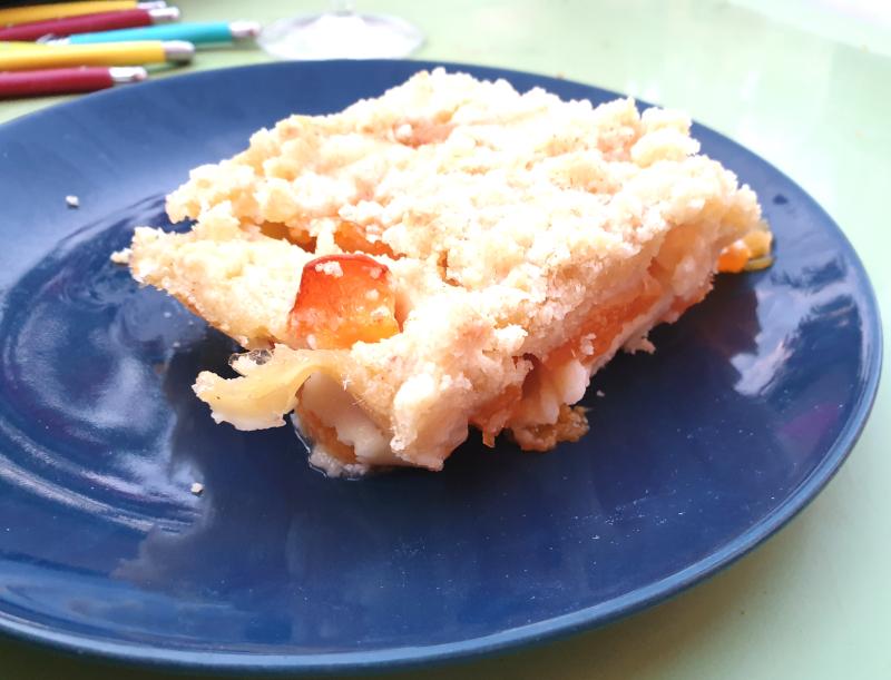 clafoutis crumble aux abricots 3