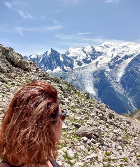 La chaine du Mont-Blanc vue du Brévent