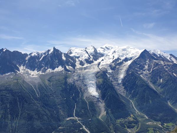 Chaine du Mont-Blanc vue du Brévent