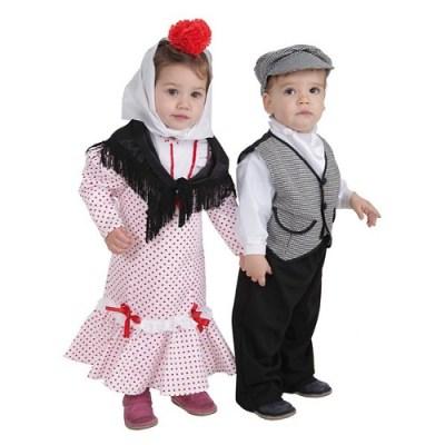Chulapo et chulapa: les costumes traditionnels de la fête de San Isidro a Madrid.