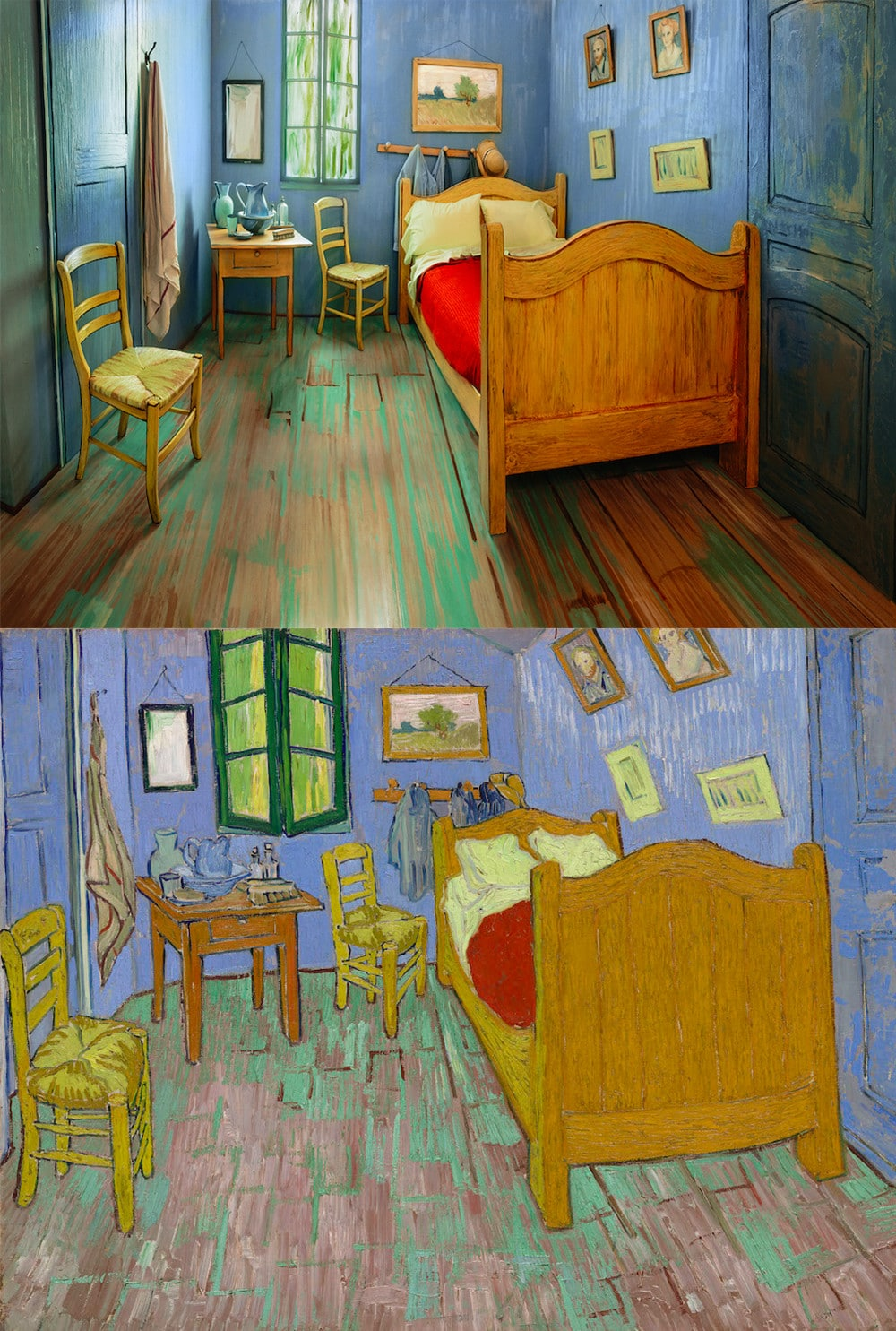 la chambre de van gogh d sormais en location sur airbnb. Black Bedroom Furniture Sets. Home Design Ideas