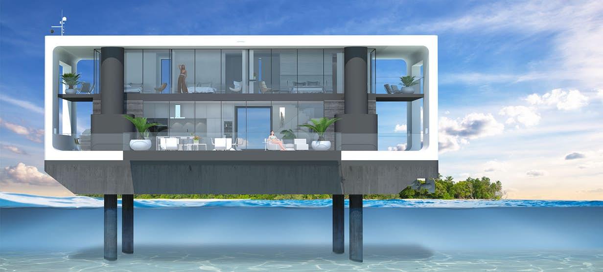 Arkup d voile une maison flottante auto l vatrice de luxe - Maison flottante ...