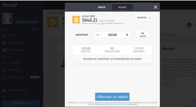 Comment acheter des Bitcoins en France etoro