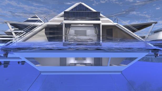 Pierpaolo Lazzarini souhaite bâtir une ville de pyramides flottantes