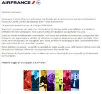 Lettre Air France