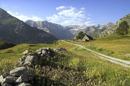 Os Pireneus no verão