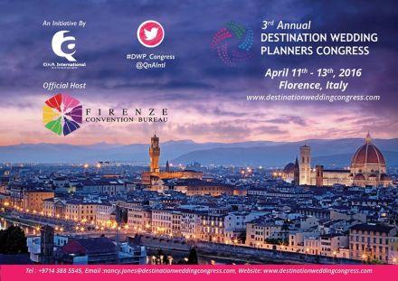 Em Firenze, o terceiro congresso dos wedding planners