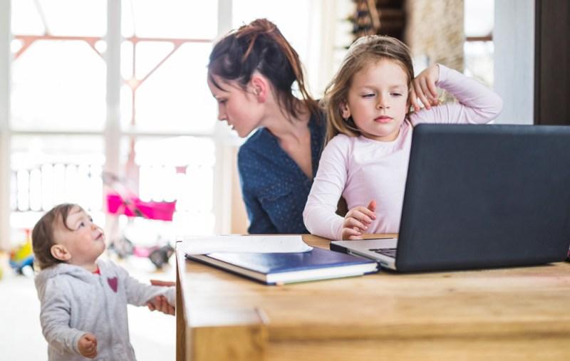 Télétravail avec enfants - Le blog du hérisson