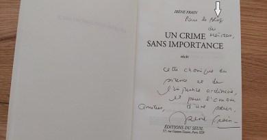 Irène FRAIN : un crime sans importance - Le blog du hérisson