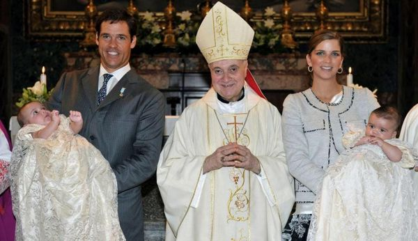 Baptême des Princes Louis et Alphonse de France