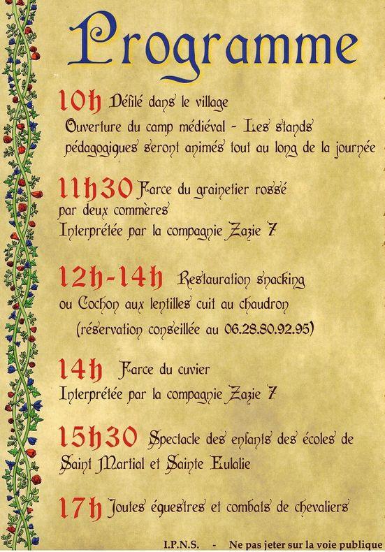 fête médiévale verso