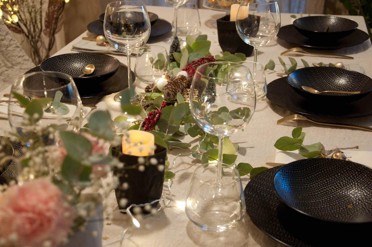 Ma table de noel glamour d coration et inspiration - Decoration florale noel ...
