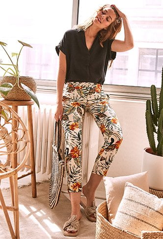 pantalon fleur promod