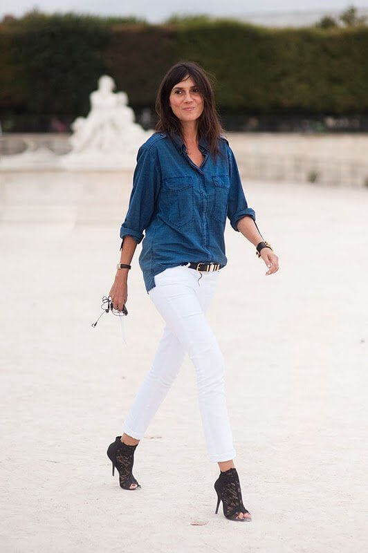 la chemise en jean
