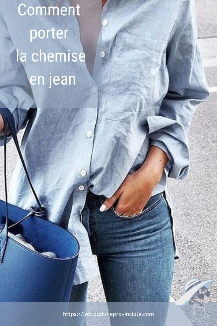 Chemise en jean pinterest