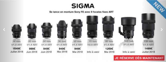 Sigma monture FE