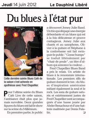 Le Dauphiné Libéré - 14 juin 2012