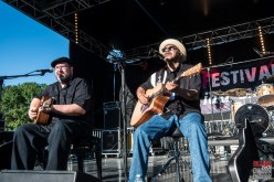 Larry Garner (vocals, guitar), Michael Van Merwyk (vocals, guitar). Larry Garner & Michael Van Merwyk @ 5ème Blues Party, Les Jardins du Millenium, l'Isle d'Abeau (France), 10.06.2017. (c) Christophe Losberger