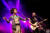 Isla (Julia Charler), Aymeric Maini (vocals, guitar). Aymeric Maini @ 5ème Blues Party, Les Jardins du Millenium, l'Isle d'Abeau (France), 10.06.2017. (c) Christophe Losberger