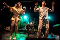 Bonita Niessen (vocals), Michael Arlt (vocals, harmonica), Andre Werkmeister (drums). Bonita and the Blues Shacks @ 5ème Blues Party, Les Jardins du Millenium, l'Isle d'Abeau (France), 10.06.2017. (c) Christophe Losberger