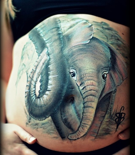 belly-painting-elephant