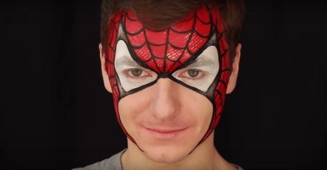 maquillage-spiderman-homme