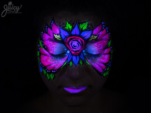 maquillage-papillon-fluorescent