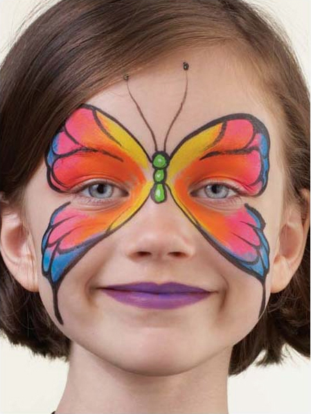 40 id es de maquillage papillon au pinceau pour enfants et adultes le body painting. Black Bedroom Furniture Sets. Home Design Ideas