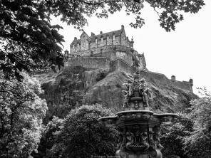 Edimbourg - Château d'Edimbourg vu depuis la Ross Fountain