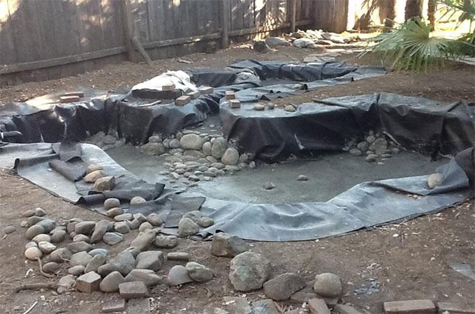 bassin a bache pour le jardin