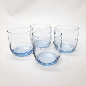 Ensemble 4 verres bleues