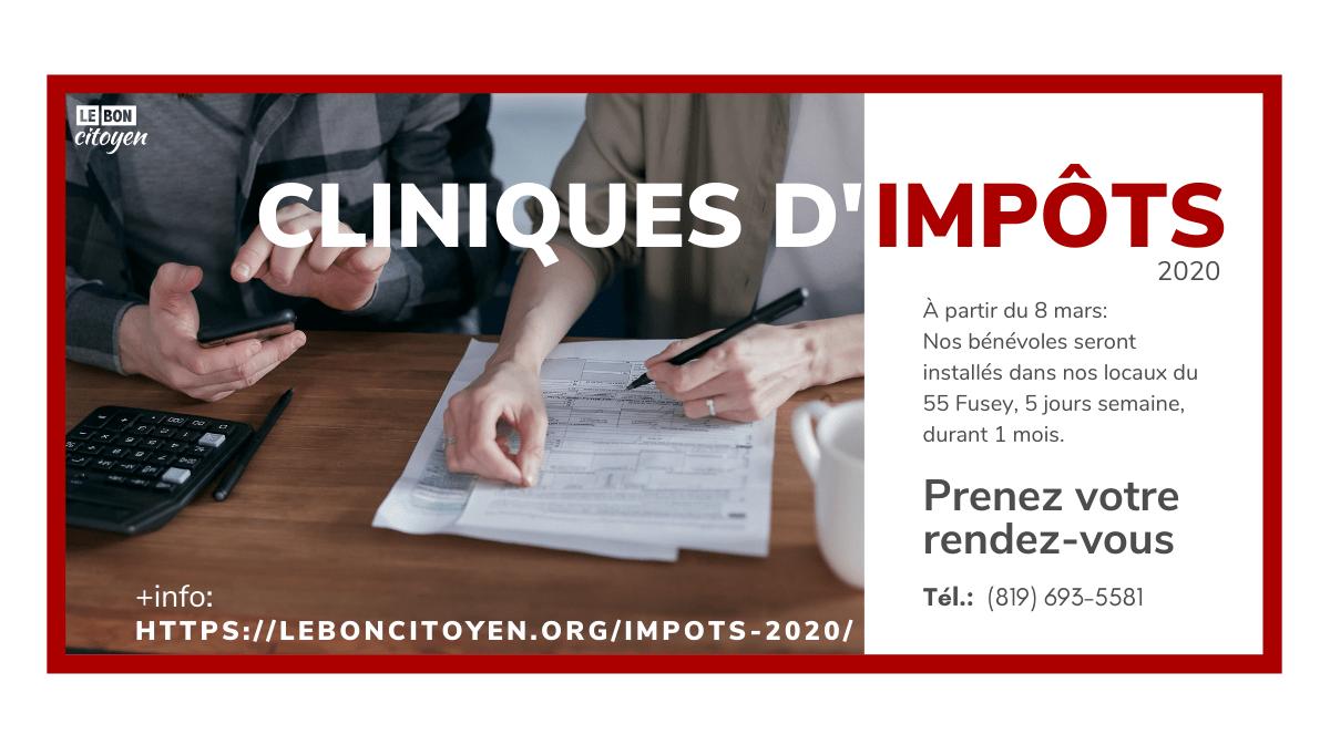 Impôts 2020, Trois-Rivières