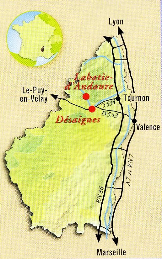 Carte pour Contact Le Bosc