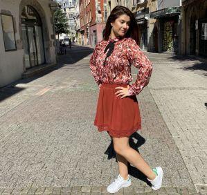 jupe Adina rouille de chez Cerise Blue