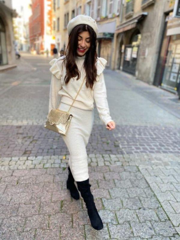 jupe blanche Danya de chez Indie + Moi