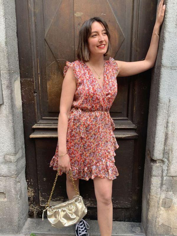 robe à fleurs Bettyna de chez Rue des Abbesses