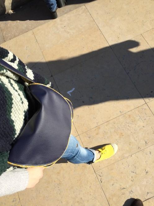 Sac bleu moutarde - 04