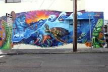 Fresque réalisée en décembre 2009 par Estria, Prime, Bam, Dmize et Pest3 à Honolulu.