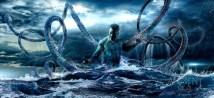 """Représentation de Kanaloa tirée de la série """"ANCIENT Hawaii"""" réalisée par Colin Anderson et Robert King Andia."""