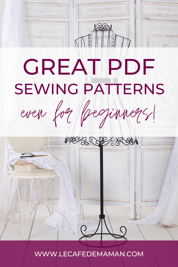 PDF sewing patterns for beginners and advanced sewists