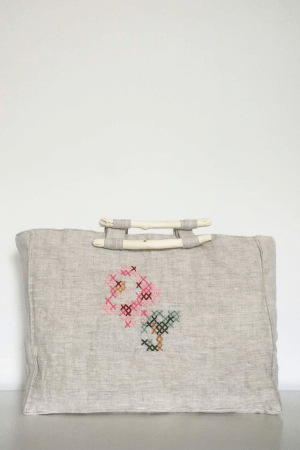 cross stitch tote