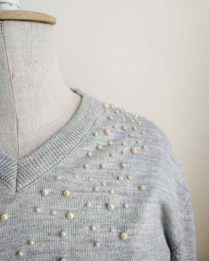easy pearl jumper diy