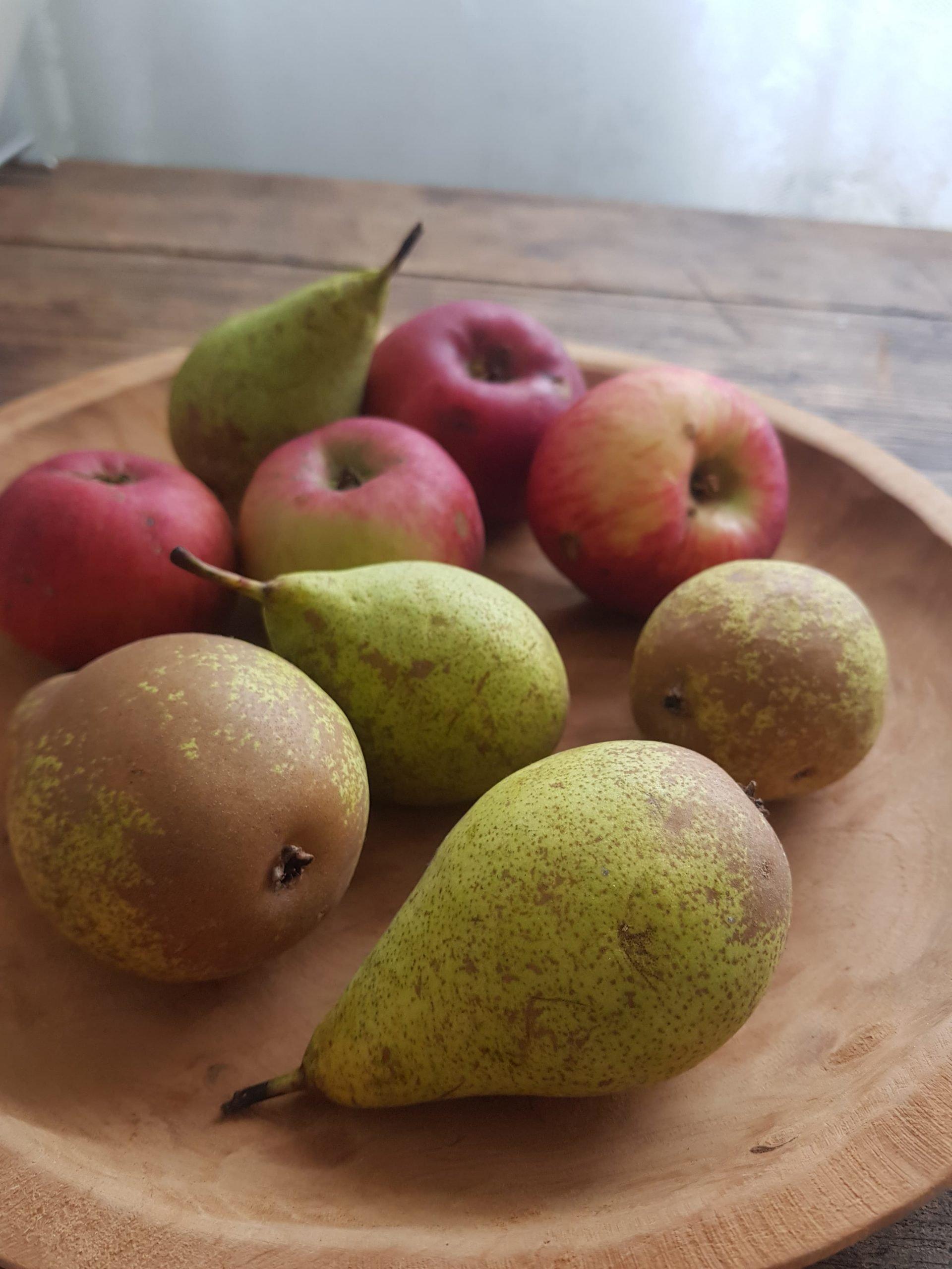 seasonal apple and pear dessert