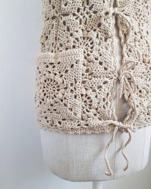 crochet handmade waistcoat