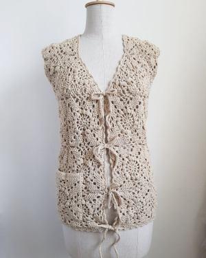 crochet spring waistcoat