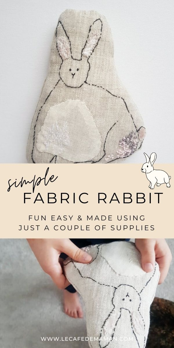 fabric rabbit toy diy